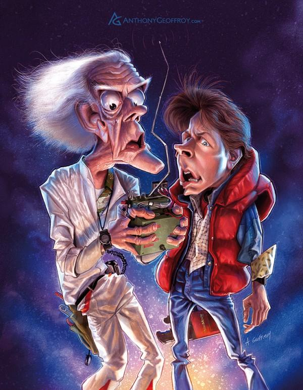 back to the future - Caricature Illustrations by Anthony Geoffroy | Art and Design