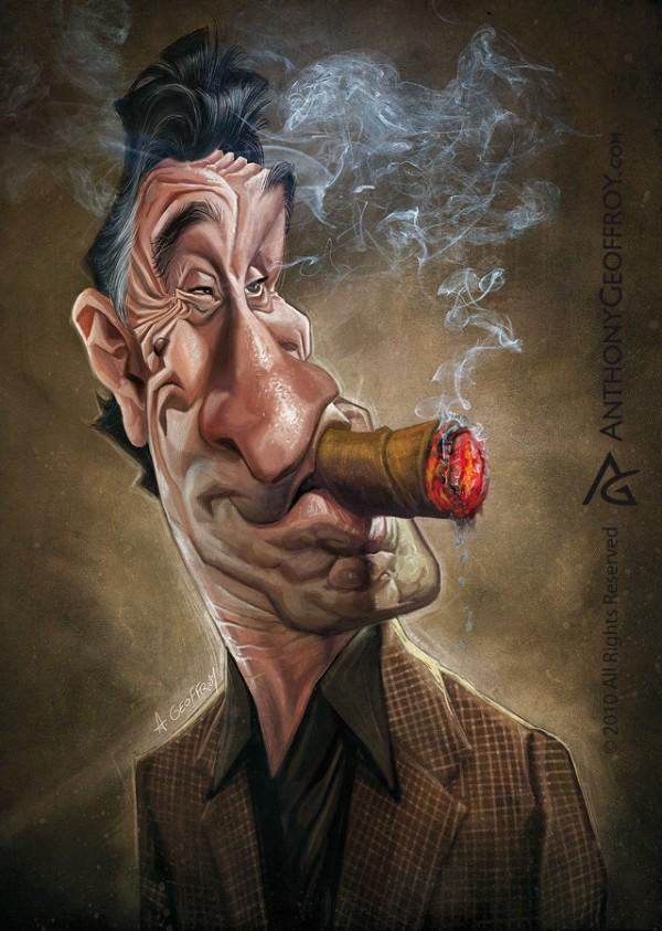de niro - Caricature Illustrations by Anthony Geoffroy | Art and Design