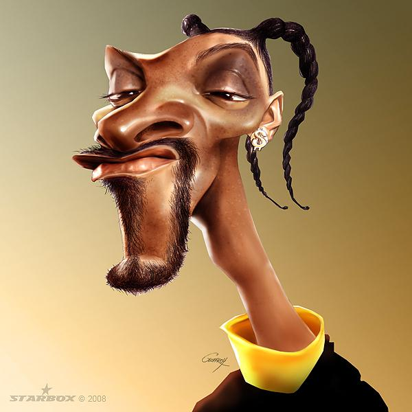 snoop dog - Caricature Illustrations by Anthony Geoffroy | Art and Design