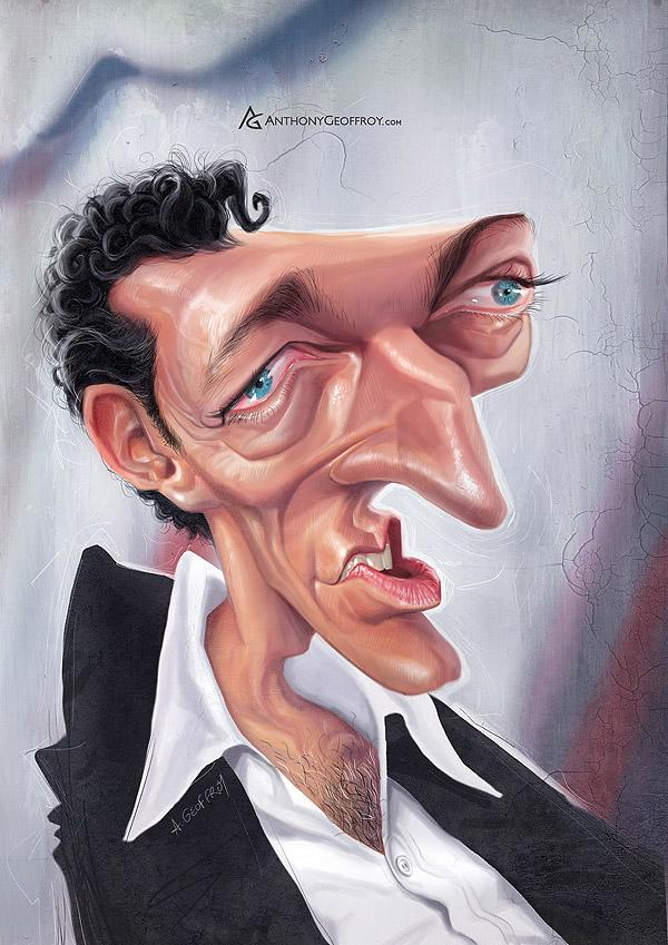 vincent cassel - Caricature Illustrations by Anthony Geoffroy | Art and Design