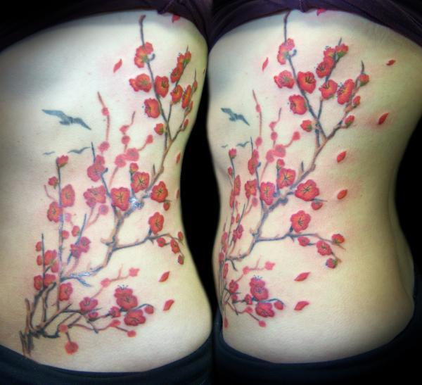 Cherry Blossom Branch - 30 ảnh vui nhộn Cherry Tattoos Designs <3 <3