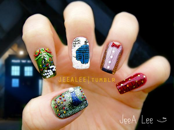 50 mind blowing designs of nail art art and design he doctor the widow and the wardrobe 50 mind blowing designs of nail prinsesfo Image collections