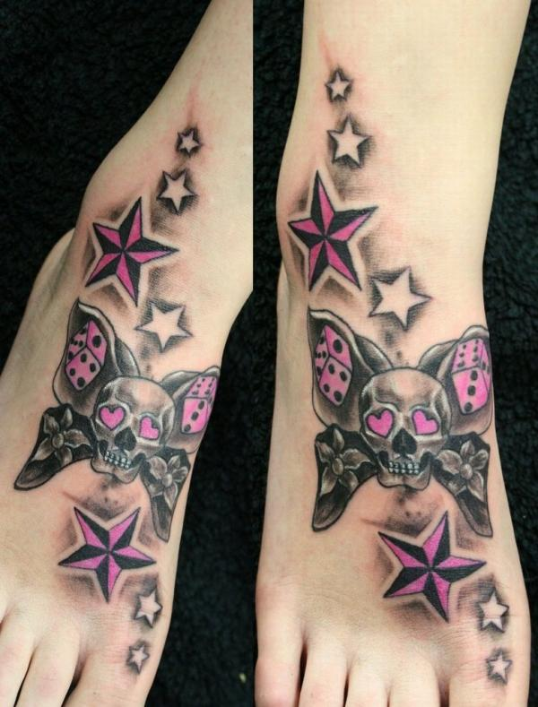 Butterflyskull Stars hồng TAT - 25 ảnh vui nhộn sao Tattoo Designs <3 <3