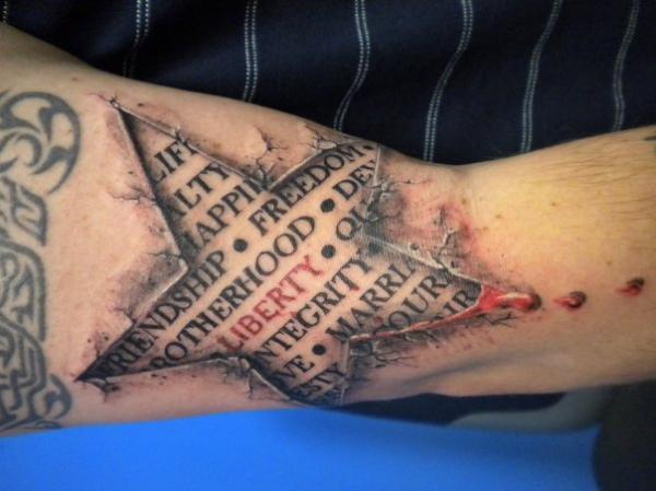 ngôi sao - 25 ảnh vui nhộn sao Tattoo Designs <3 <3