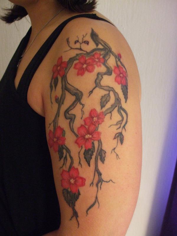 khá hoa hình xăm trên cánh tay - 30 ảnh vui nhộn Cherry Tattoos Designs <3 <3