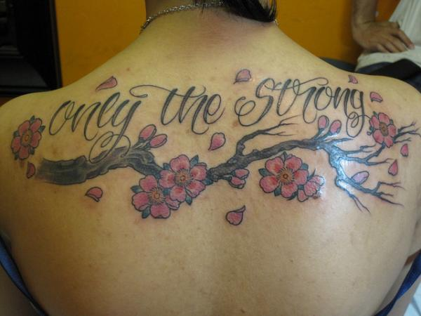 Only The Strong - Cherry Blossom Branch - 30 ảnh vui nhộn Cherry Tattoos Designs <3 <3