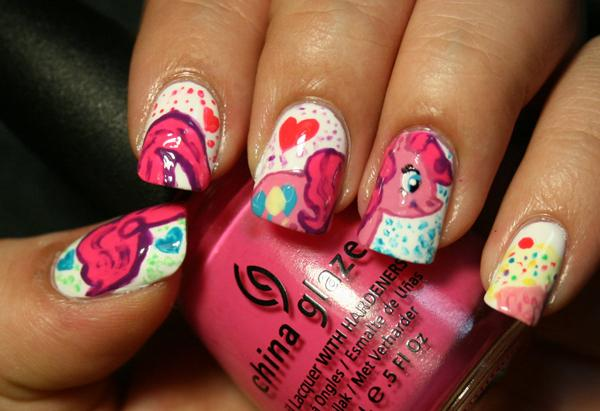 50 mind blowing designs of nail art art and design nail art pinkie pie 50 mind blowing designs of nail art 3 prinsesfo Image collections