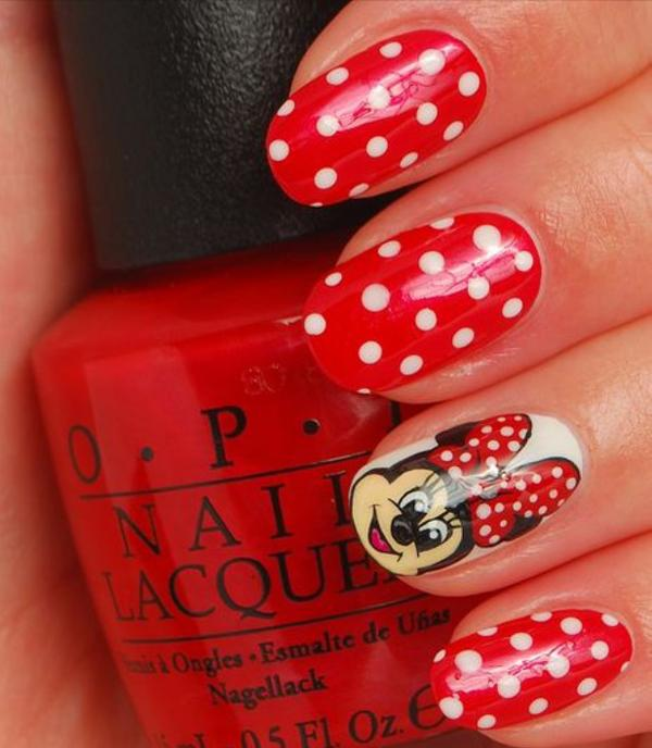 50 mind blowing designs of nail art art and design minnie mouse nail art 50 mind blowing designs of nail art 3 3 prinsesfo Image collections