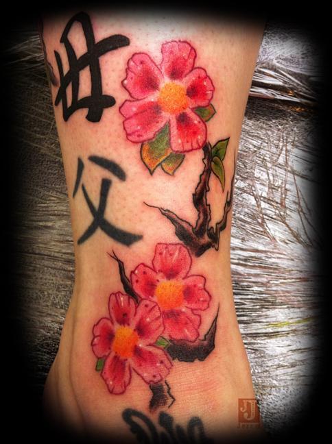 Hoa anh đào - 30 ảnh vui nhộn Cherry Tattoos Designs <3 <3