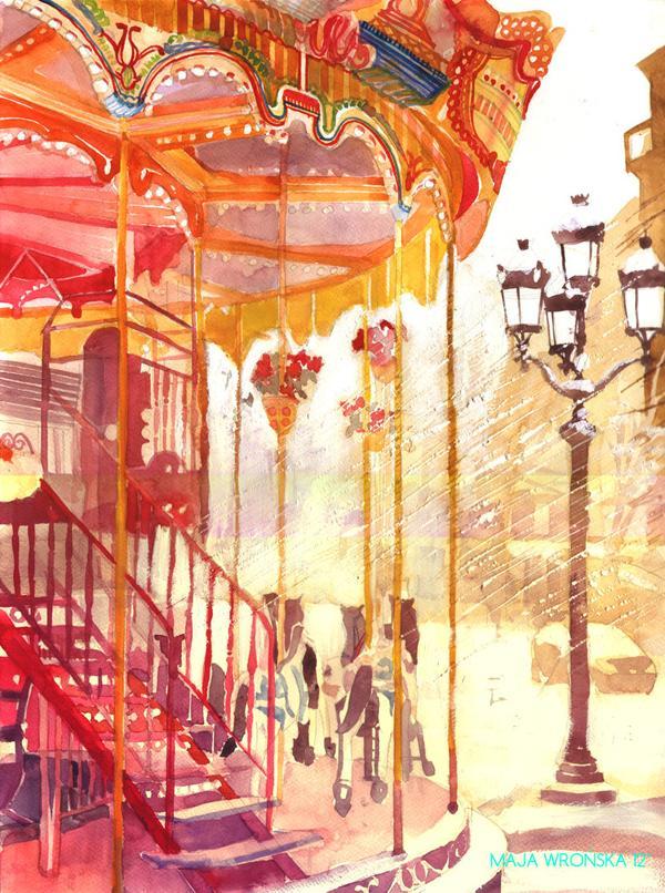 Arhitektura u delima slikara Carousel_by_takmaj