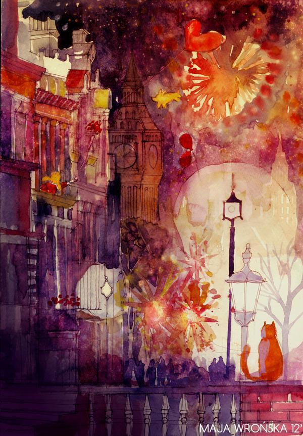 Arhitektura u delima slikara Girl_with_a_red_baloon_by_takmaj