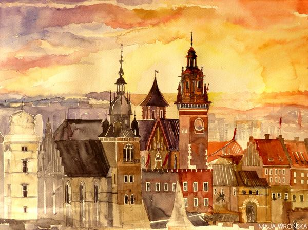 Arhitektura u delima slikara Krakow_by_takmaj