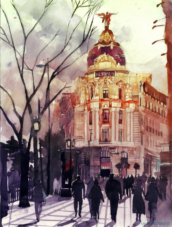 Arhitektura u delima slikara Madrid_by_takmaj