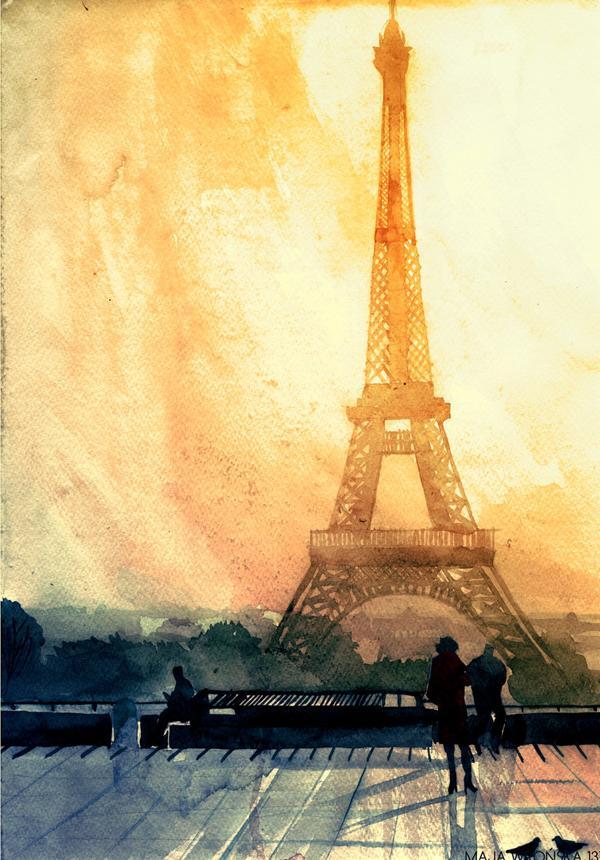 Arhitektura u delima slikara Paris_by_takmaj