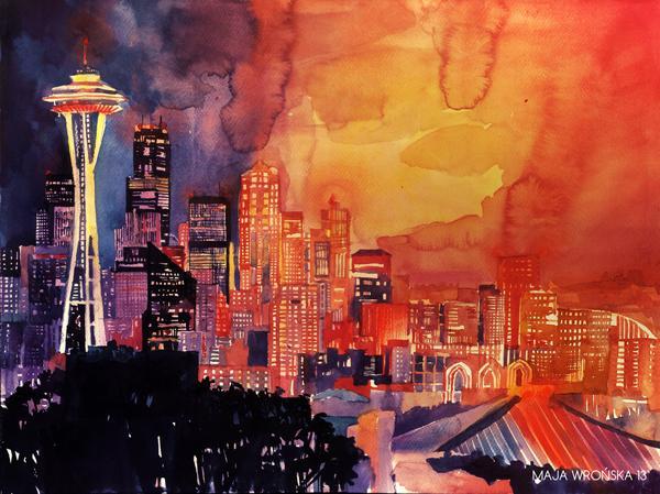 Arhitektura u delima slikara Seattle_by_takmaj