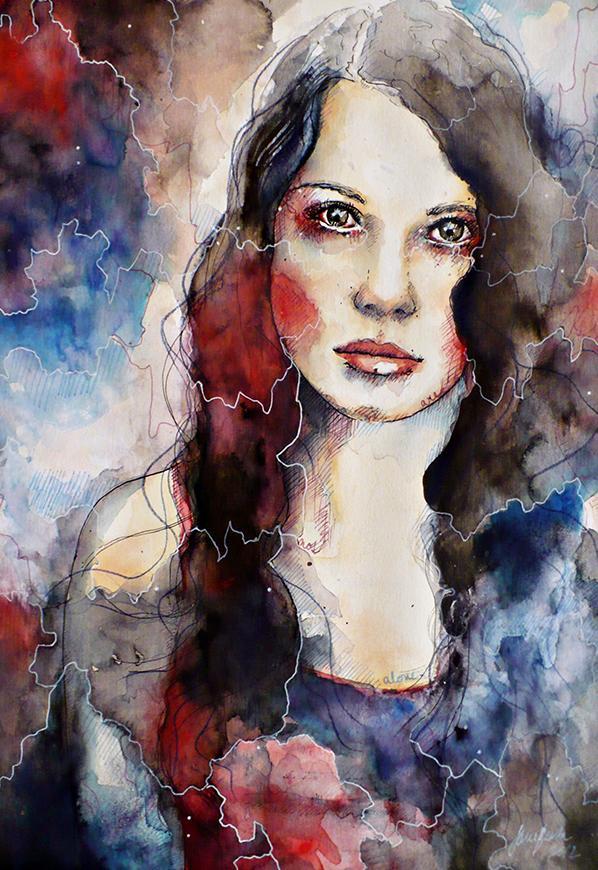 Realistic Watercolor Portraits Timebomb Watercolor Portrait