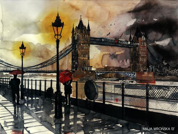 Arhitektura u delima slikara Tower_bridge_by_takmaj