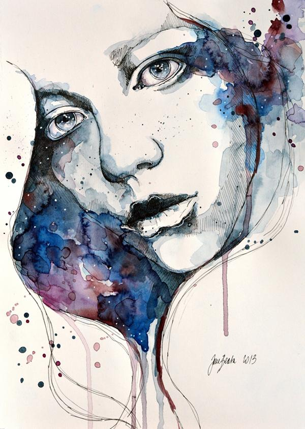 Watercolor Portraiture Paintings by Jane Beata | Art and ...