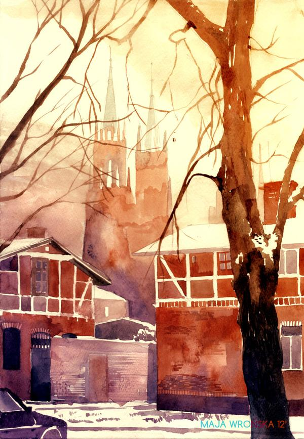 Arhitektura u delima slikara Winter_in_poland_by_takmaj-d5nk159