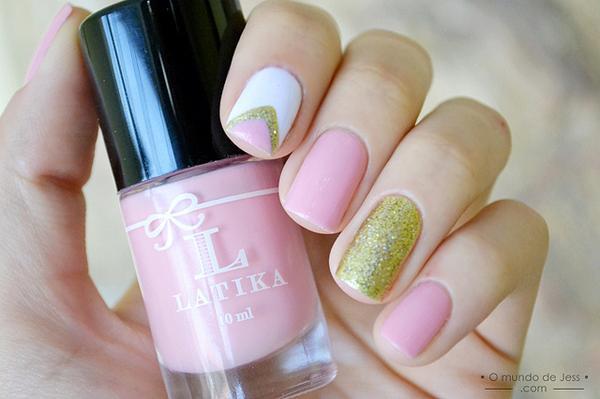 40 examples of elegant nail art art and design peach milk 40 examples of elegant nail art 3 3 prinsesfo Images