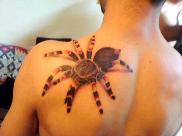 3d layout tattoo tarantula