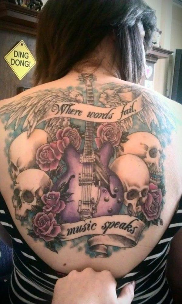 27 Guitar tattoo