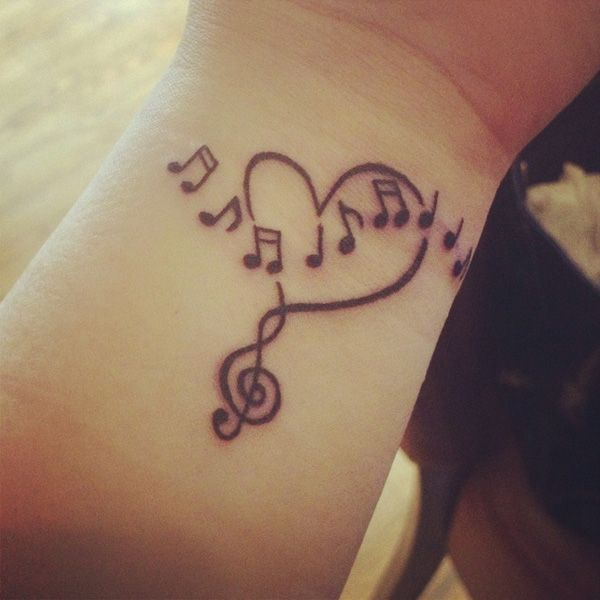 45 Infinity music tattoo