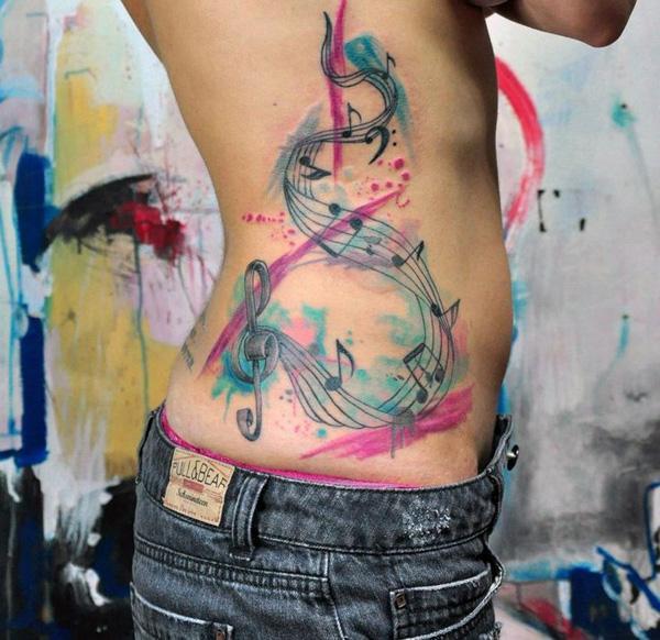 58 Music note tattoo