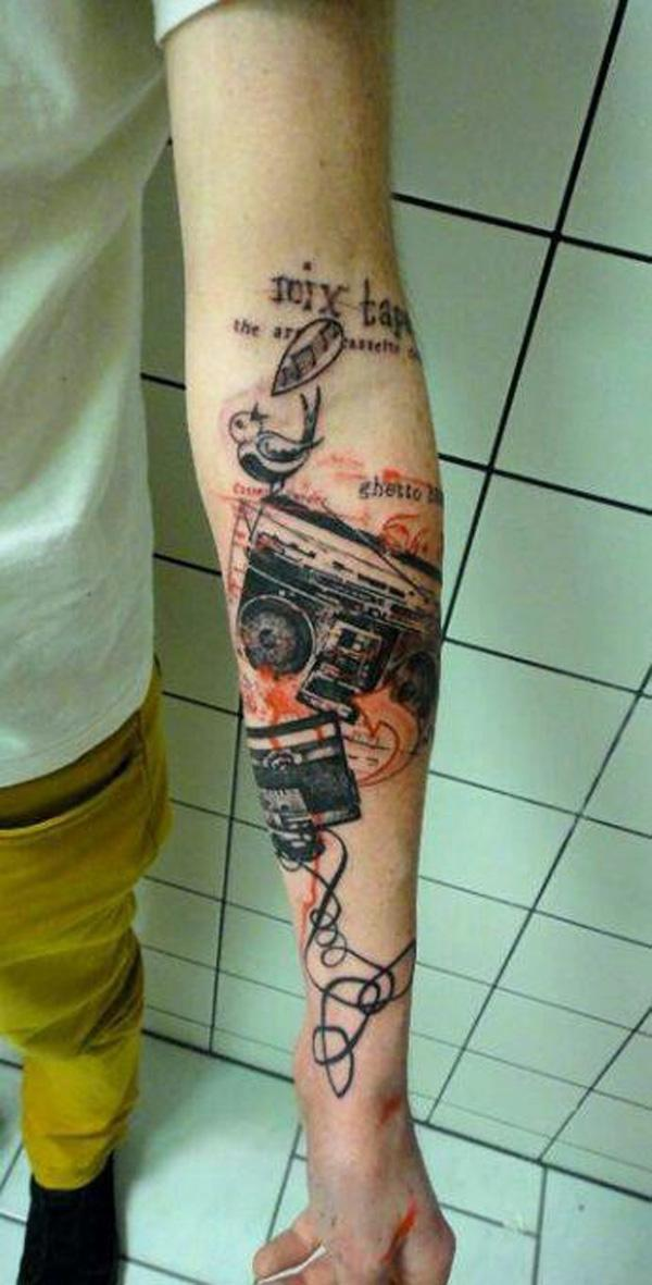 59 Music tap tattoo