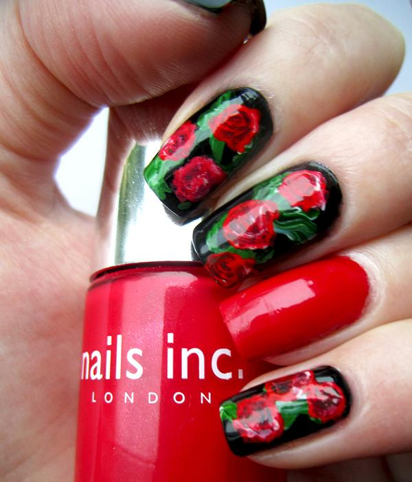 40 examples of elegant nail art art and design red roses valentines manicure 40 examples of elegant nail art 3 3 prinsesfo Images