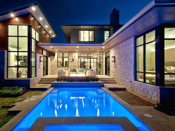 Cozy Luxury Home by Cornerstone Architects Art and Design