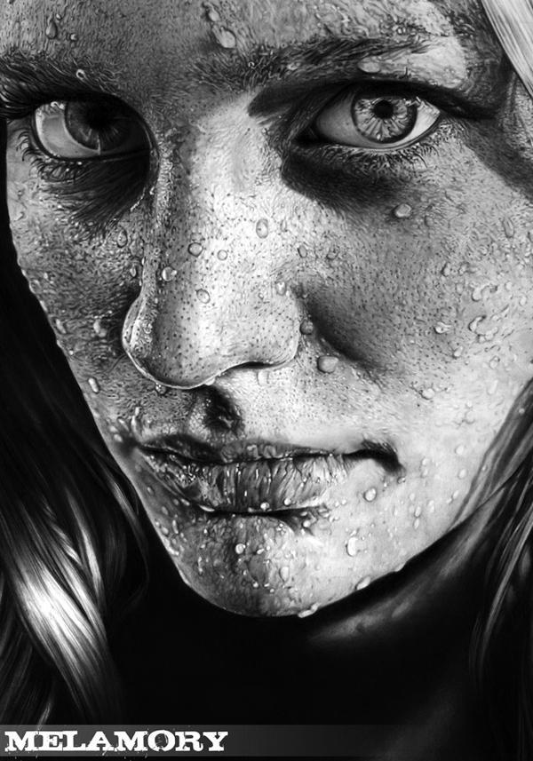 Pencil Drawings Portraits Realistic Fashion Illustration Colour Pencil ...