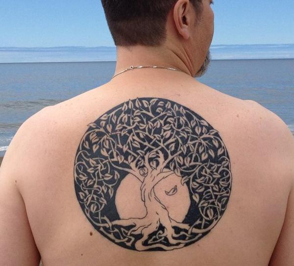 Celtic Tree Of Life Stencil