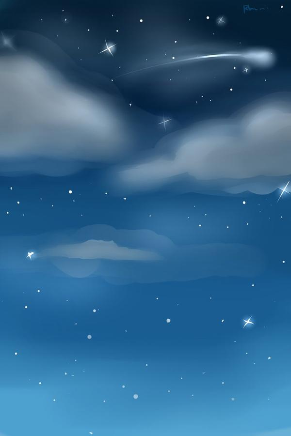 Night Sky Custom Background - 50 Examples of Cool Backgrounds <3 <3 ...