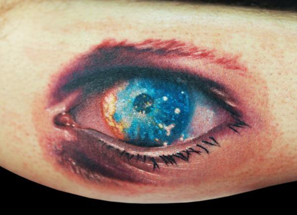 Eye tattoo black