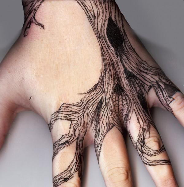 Pine Tree Hand Tattoo Tattoo Inspired Hand Tree 60