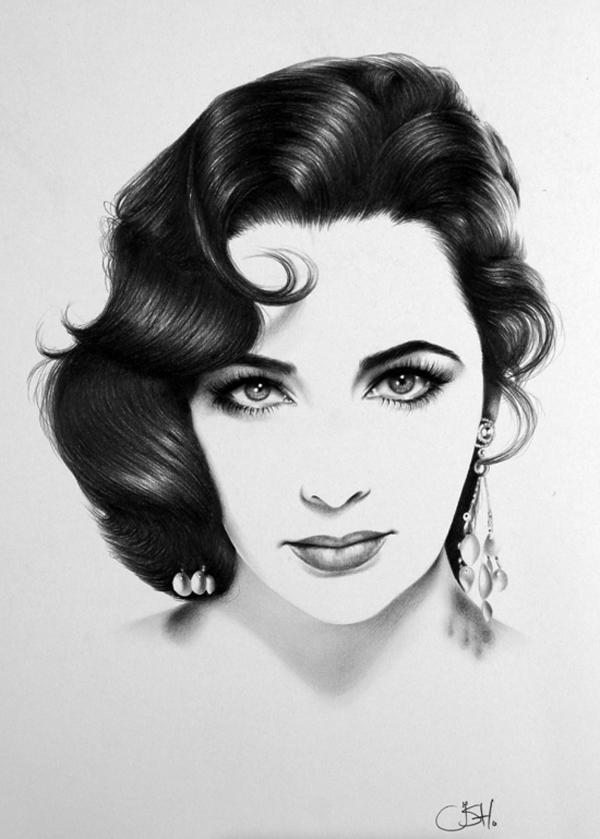 50 excellent examples of portrait drawing art and design