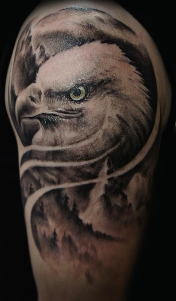 Bald headed eagle tattoo pictures to pin on pinterest