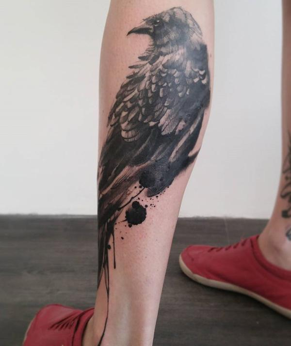 bird-calf-tattoo-for-man-88