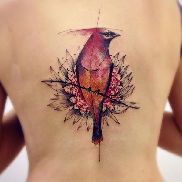 cardinal-bird-back-tattoo-90