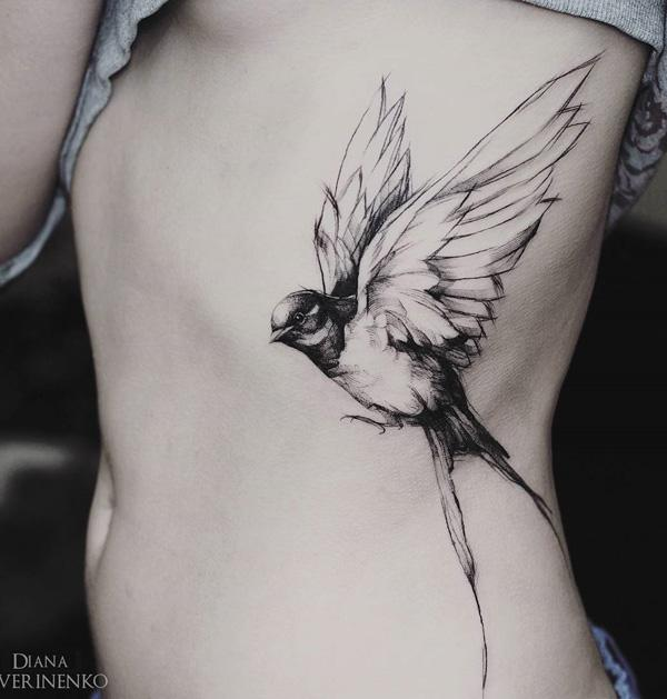 83191a0111a58 110 Lovely Bird Tattoo Designs | Art and Design