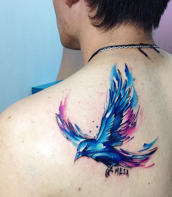 watercoloe-flying-bird-tattoo-84