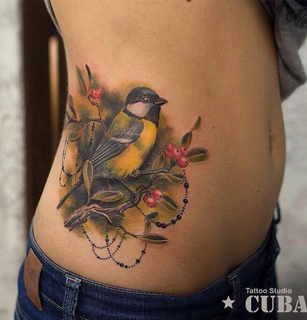 colored-brid-side-tattoo-for-women-54