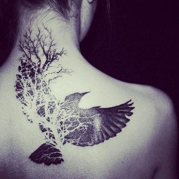 60 awesome tree tattoo designs art and design rh cuded com Manly Bird in Tree Tattoos what do tree and bird tattoos mean