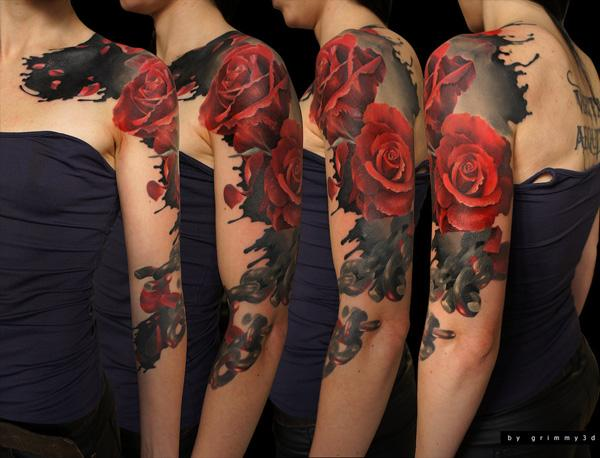 0e131e8bb Roses - 60 Cool Sleeve Tattoo Designs <3 <3 ...