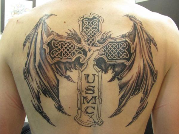 dove chest tattoo for men