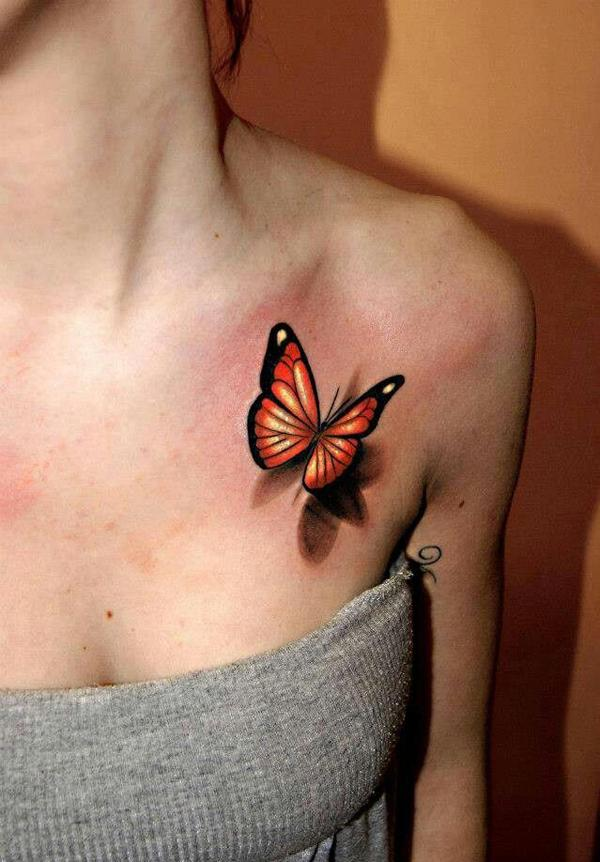 3D Butterfly Tattoos for Women