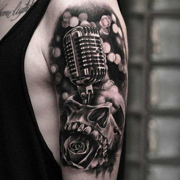 100 microphone tattoos designs music heart adam gontier solo live 2013 tattoos by. Black Bedroom Furniture Sets. Home Design Ideas