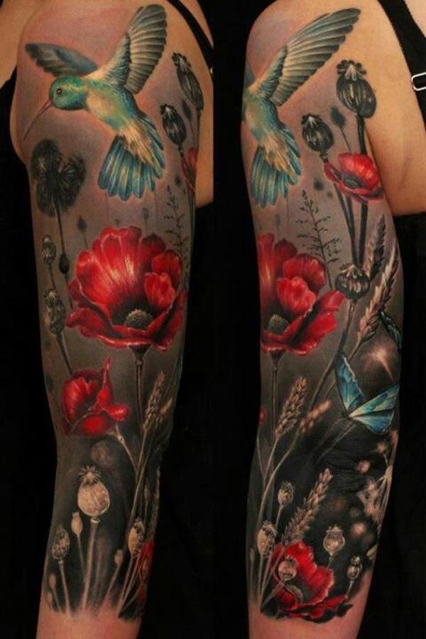 Flower Tattoos On Arm