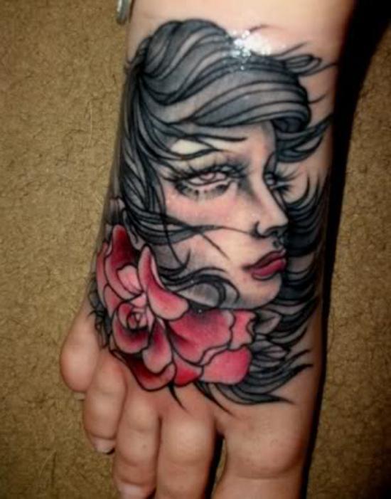chân dung hình xăm trên chân - 50 ảnh vui nhộn Tattoo Designs Foot <3 <3
